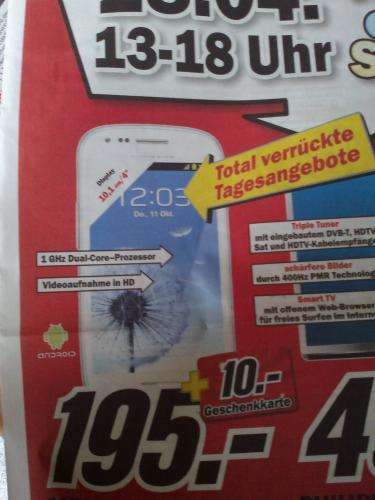 Samsung Galaxy S3 Mini zzgl. 10 Euro Gutschein lokal Heilbronn