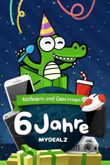 """6 Jahre mydealz - Mitfeiern & Gewinnen - iPhone 5, New York Flug, 55"""" TV"""