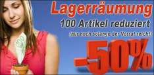 -50% Lagerräumung cdrohlinge24.de 100 Artikel günstiger