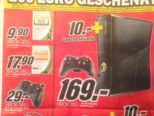 [Lokal Media Markt Essen] Xbox 360 250GB