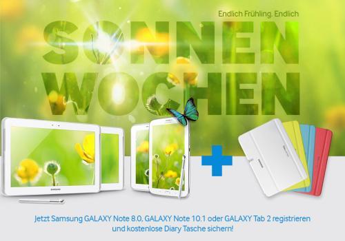 [SAMSUNG SONNENWOCHEN] Galaxy Note 8/10.1 / Galaxy Tab 2 7/10.1 kaufen + kostenlose Samsung Dairy Tasche erhalten