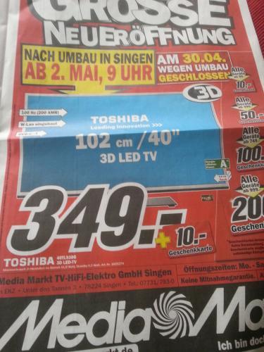 Toshiba 40TL938G Media Markt Singen
