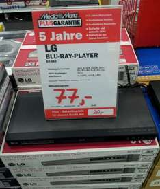 local@MM Dietzenbach LG Electronics BD660 - 3D Blu Ray Player mit DLNA für 77 €