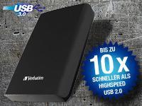 "Pearl   Verbatim 2,5"" Store'n'Go USB3.0-Festplatte 500GB 2,5"" nur 39,90€ zzgl. Versand"