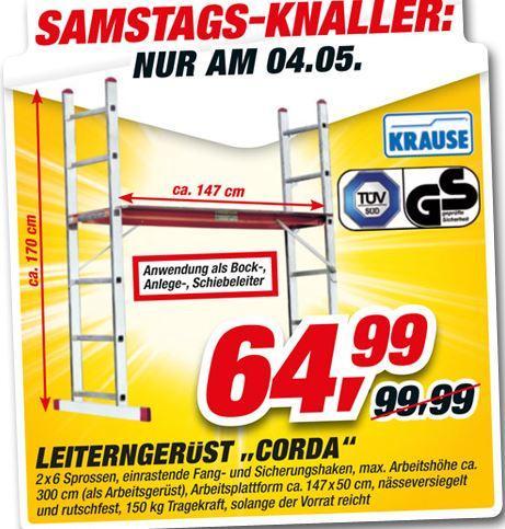 """Leiterngerüst """"Corda"""" 2x6 Sprossen nur am 04.05. TOOM-Baumarkt"""