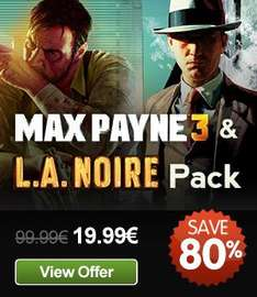[Steam] Max Payne 3 & L.A. Noire Pack @ GMG