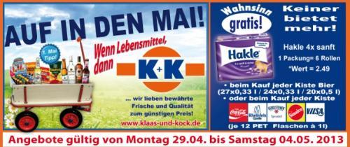 [Regional] Zu jeder Bier- und vielen sonstigen Getränkekisten einen Sechserpack Hakle Sanft & Sicher dazu. Und Katjes für 49 Cent. Und Gaudi Max Party-Mix 25er für 5,55€.