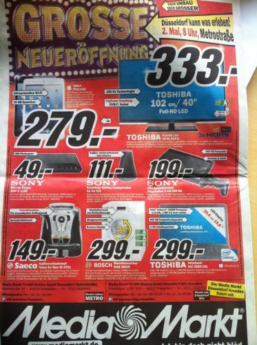 Neueröffnung Media Markt Düsseldorf