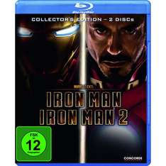 [BLU-RAY] Iron Man + Iron Man 2 - Collector's Edition (Softbox) @ Saturn.de für 6,00 EUR