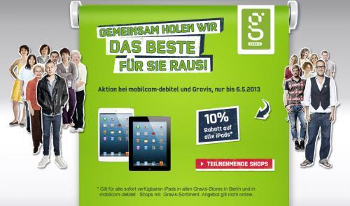 10% Rabatt auf alle iPads | nur bis 6.5. und nur in Berlin