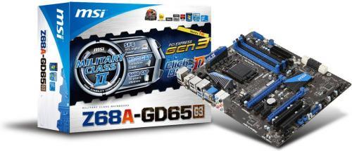 """MSI Mainboard Sockel 1155 """"Z68A-GD65 (G3)"""" für 76,90€ VSK-frei @Zackzack"""