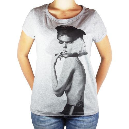 Eleven Paris T-Shirt Gaga Bitch Rundhals Frauen - Grau für nur 23,80 € statt 42,80 EUR (-50%)