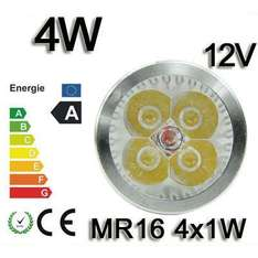 100x 4W High Power LED Spot Warmweiss MR16 @ebay