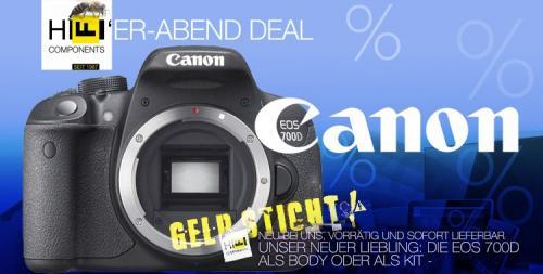 Doppel Deal: Canon EOS 700D für 518,99€ (100€ Gutschein + 50€ CashBack / Nur Body oder als Kit)