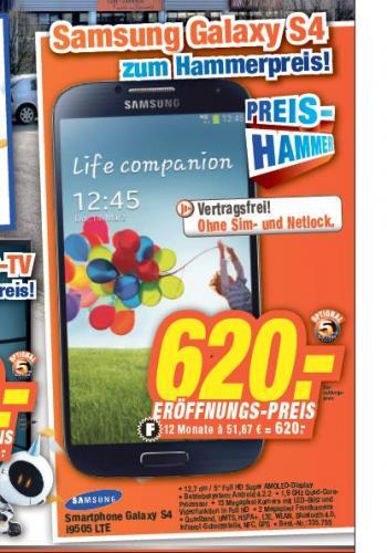 [LOKAL] expert TeVi Neumarkt: Samsung Galaxy S4 für 620.-€.