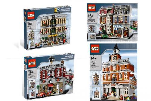 Amazon.IT und Amazon.ES: LEGO Pet Shop 10218,  LEGO Fire Brigade 10197 , Town Hall, Grand Emporium alle relativ Günstig. Links