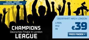 Zum Champions League Finale! Fähre für 4 Personen inkl. PKW hin und zurück nur 78,- Euro