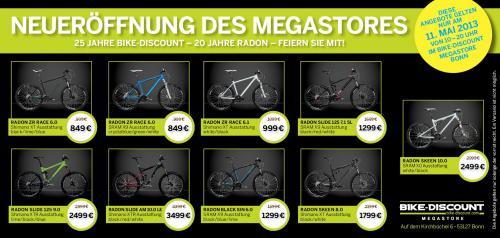 Neueröffnung H&S Bike Discount Megastore in Bonn, Radon Bike Sonderangebote