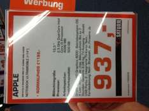 """(Regional-Köln-Saturn-Maybachstrasse) APPLE MacBookPro 13"""" für 937€!!"""