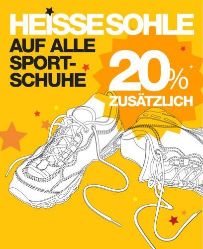 20% auf das komplette Sportschuhsortiment der Sportarena [lokal]