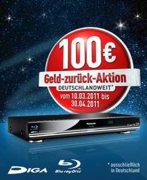 Panasonic Blu-ray Recorder -> 100€ Cashback