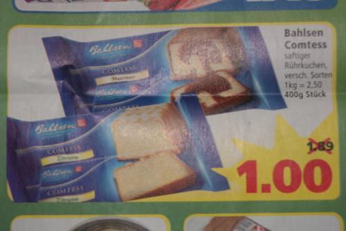 Bahlsen Comtess Kuchen [Lokal? Goslar] nur 1,00€