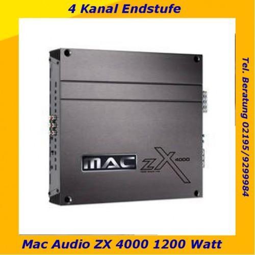 Mac Audio ZXS 4000, 4 Kanal Endstufe, 1200 Watt max. für 89€ @Rakuten