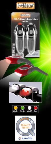 LED-Silikonleuchten verschiedene Gehäusefarben für Fahrrad etc.  EUR 2,99 - ab Mi 08.05.2013 bei NORMA vor Ort