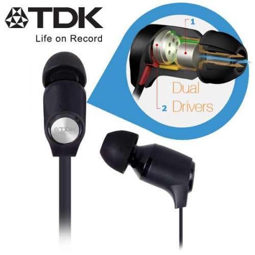 TDK Life on Record IE800 Dual-Kopfhörer in-Ears mit Flachkabel (anstelle von 99,95€)