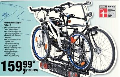 Fahrradheckträger Eufab Poker-F (baugleich Ex-Raven) @ Metro