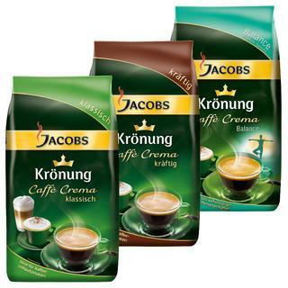 Jacobs Krönung Kaffee, ganze Bohnen, für nur umgerechnet 6,7€ pro 1kg inkl. VSK + Gratis Entkalker --- billigster Idealo Preis bei 15,98€ inkl. VSK. --- 6kg = 40,20€ , 3kg = 23,48€