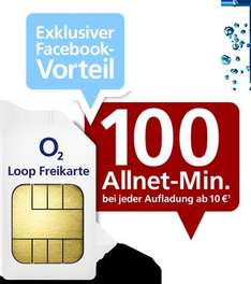 Gratis Prepaid-Sim und 100 Allnet-Minuten bei jeder Aufladung ab 10 Euro