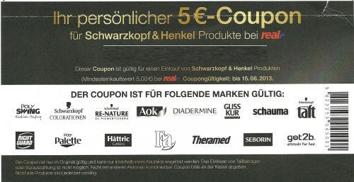 Schwarzkopf & Henkel 5€ Coupon bei Real