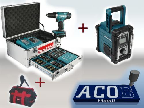 Makita Akkubohrschrauber BHP453RHEX5 + BMR102 Radio + original Makita Handwerkertasche @eBay für 330,00€