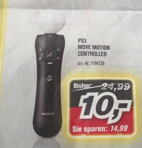 PS3 Move Motion Controller 10€ @ ProMarkt, zudem 2x PS3 Essentials-Spiele für 25€