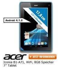 Acer Iconia B1 8GB für 99€ bei Saturn Late Night Shopping