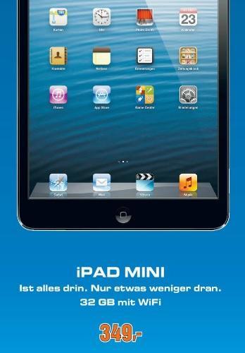 [Lokal Saturn Hamburg] Apple iPad mini 32GB WiFi für 349,00 Euro