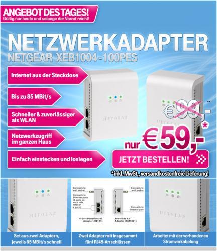 t-online shop: NETGEAR XEB1004-100PES für 59,-