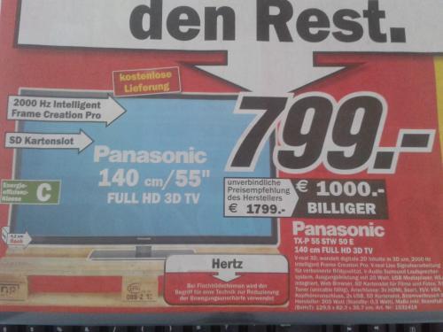 (Lokal - Media Markt Essen) Panasonic TX-P 55 STW 50 E
