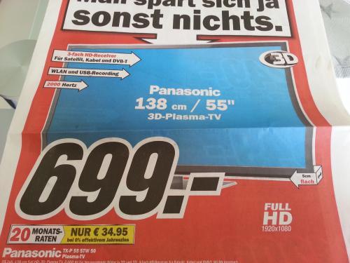 Lokal - Media Markt Göttingen Panasonic TX-P 55 STW 50