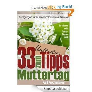 """[Amazon] E-Book """"33 Tipps zum Muttertag - Anregungen für Kurzentschlossene und Kreative"""""""
