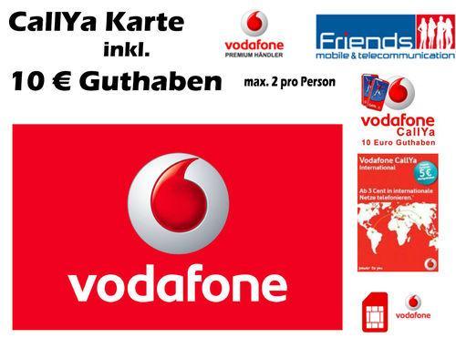 Vodafone Prepaid Karte mit 10,-€ Startguthaben