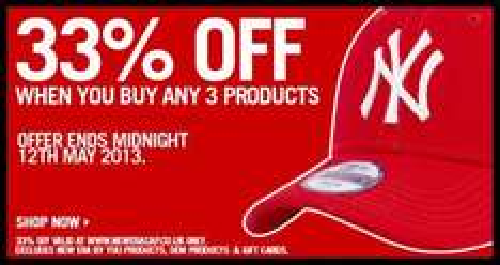 33% Rabatt bei Kauf von 3 NEW ERA Caps +KOSTENLOSE LIEFERUNG bis 12.05.