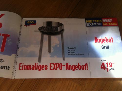 {Offline} Rundgrill schwarz 4,99 € (brutto)