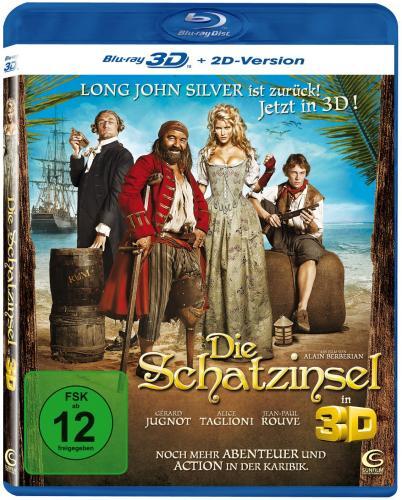 Die Schatzinsel 3D (inkl. 2D Version) [Blu-ray 3D]  @ Amazon  Nur 3,49 € inkl VSK