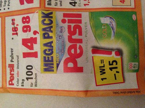 Persil Pulver Mega Pack 14,98