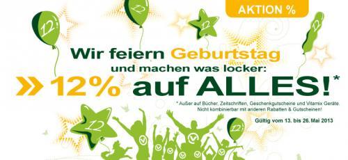 12% Rabatt auf Alles bei alles-vegetarisch.de