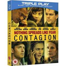 (UK) Contagion - Triple Play (Blu-ray + DVD + Digital Copy)  für 9.39€ @ play (Zoverstocks)
