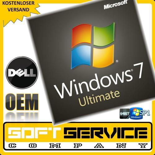 Windows 7 Ultimate 64 Bit inkl. SP1, OEM nur 37,49 EURO