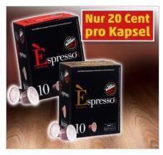 [PENNY] VERGNANO Espresso 10x Kapseln 1,99€  (Nespresso Nachbau, einer der besseren)